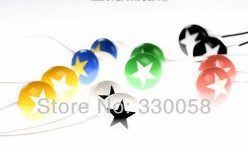 3.5mm colorful stars in-ear earphones headphone epad/Mid mp3,mp4 free shipping
