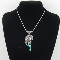 15$ Free Shipping MiaoYin turquoise brief paragraph chain retro elegant national handmade jewelry