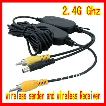 Holiday sale!!Free shipping good quality 2.4G wireless system to all car rearview cameras with RGB av in