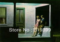Edward Hopper Oil Painting Reproduction on Linen Canvas,Summer Evening, 1947,Free DHL Shipping,100%handmade,Museam Quality