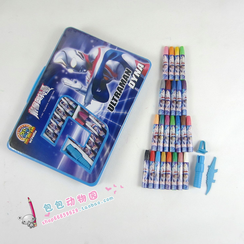 Ottoman super man oil painting stick multicolour 24 crayon box drawing tool 2(China (Mainland))
