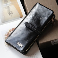 Free Shipping Oil Waxing Leather Female Wallet Drawstring Elegant Wallet First Layer Of Cowhide