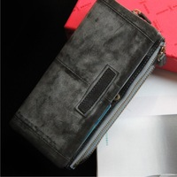 Free Shipping Fashion Male Genuine Leather Wallet Capacity Function Bag Cowhide Wallet Mobile Phone Bag