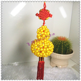 Diy handmade beaded material beaded gourd lucky car hanging material kit finished products gift(China (Mainland))