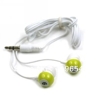 Number Earphone / Snooker Earphone Headphone 3.5mm In-ear Universal Earphones 20pcs/lot Free Shipping