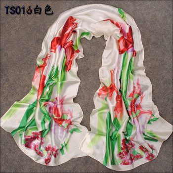 Free Shipping! Min. Order is 10USD(Can Mixed Order)   Fashion Spring And Summer Ultra Smooth Long Simulation Silk Fabric Scarves