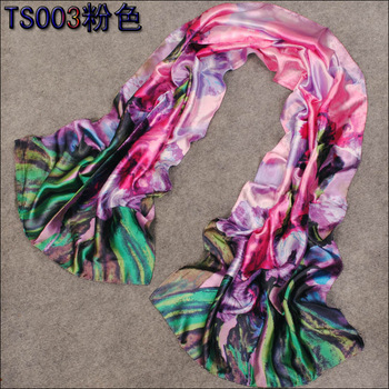 Free Shipping! Min. Order is 10USD(Can Mixed Order)   Fashion Pretty Multicolor Women's  Long  Faux Silk Scarf
