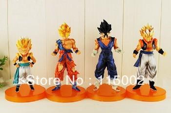 "3set Anime Dragon Ball Z 5""Songukou Gogeta Gotenks Action Figure toy ( 4 pcs/set )"