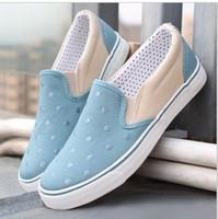 2013 New fashion canvas shoes ,help low single shoes ,Slip ,popular  female  shoes , three corols ,  + free shinpping