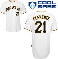 Pittsburgh Pirates 21 Roberto Clemente White Baseball Jerseys