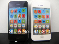 Wholesale - Black and white 2 color iphone toy learning machine Y phone 4s,Yphone iphone learning educational toys ,200 pcs/lot