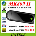 2013 MK809 ii Android 4.1 Mini PC TV Stick Rockchip RK3066 1.6GHz Cortex A9 Dual core 1GB RAM 8GB Bluetooth MK809II 3D TV Box(China (Mainland))