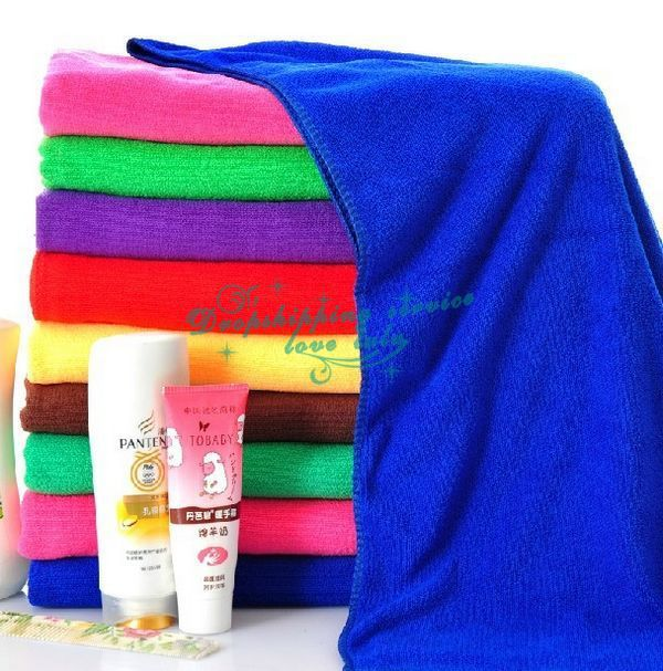 Family essential household soft microfiber large bath towel Hot Drop Shipping/Free Shipping(China (Mainland))