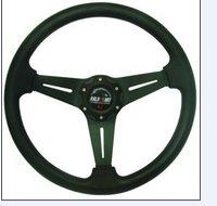 Ralliart 14 inches PU Leather Steering Wheel, Sport steering wheel