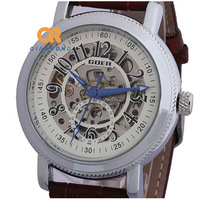 TOP Mens Face Manual wind Luxury Wrist Mechanical Watch Skeleton women High Class Free shipping