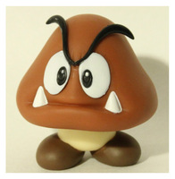10pcs  High qulity Super Mario goomba pvc doll Figure Toy 5 inch Baby Doll figures