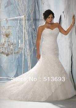 Верх Online Mermaid Sweetheart Рукавless Strapless Кружево Plus Размер Свадьба Dress ...