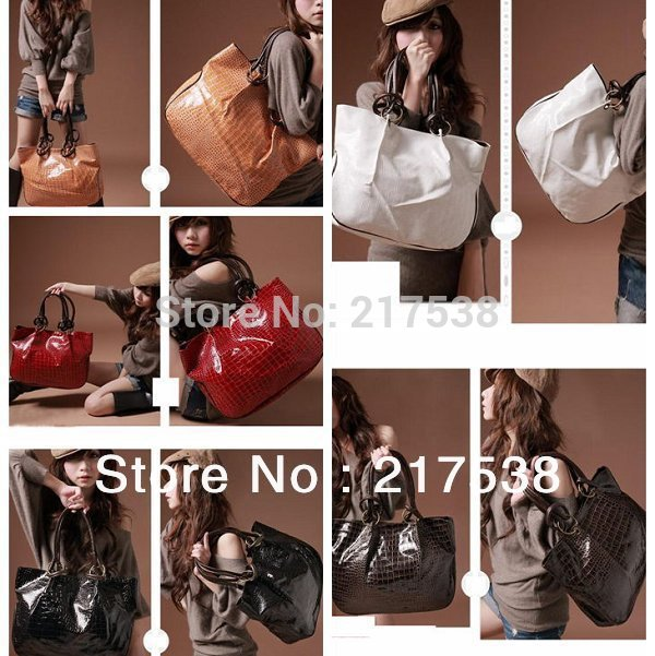 5Colors 2013 Fashion Lady Girls' Handbag Big Capacity Shining Stone Pattern PU Leather Shoulder Bag Hobo Bag 640193 1pc/lot(China (Mainland))