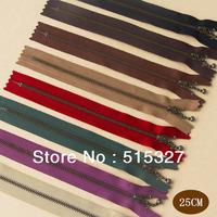 Japan YKK #3  Bronze Zippers DIY for bags 8pcs/lot 25CM