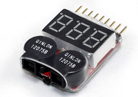 2 pcs/ 1-8S Lipo Battery Voltage Tester and Low Voltage Buzzer Alarm
