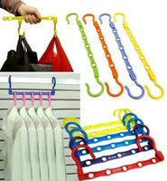 10pcs/lot Wonder hanger Magic Multifunctional clothes hangers coat hanger clothes dryer 360 degrees adjustable Save space