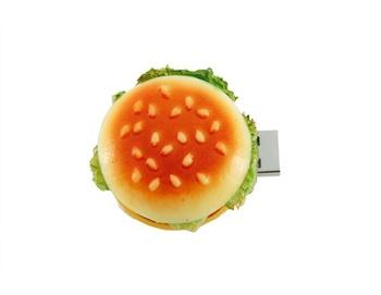 Free Shipping Lovely Big Hamburger Shape Flash Drive (Yellow) 100% Full Capacity 4GB 8GB 16GB 32GB 64GB