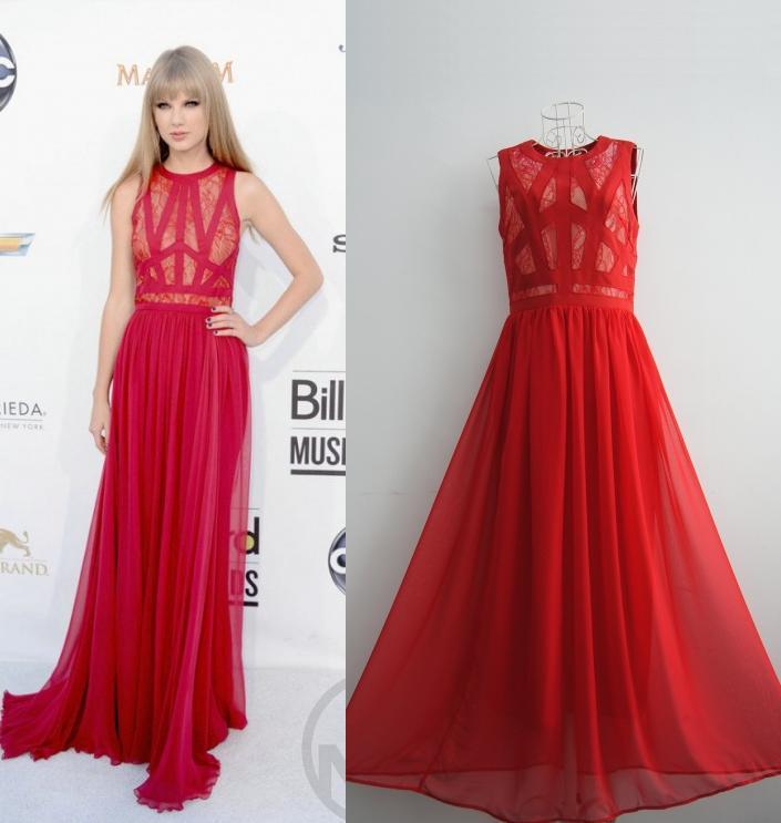 Long Red Maxi Dress Photo Album - Reikian