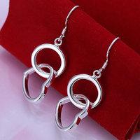 Wholesale 925 silver earrings, 925 silver fashion jewelry, Ring Earrings E171