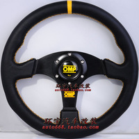 13 automobile race modified steering wheel genuine leather omp steering wheel modified car steering wheel genuine leather