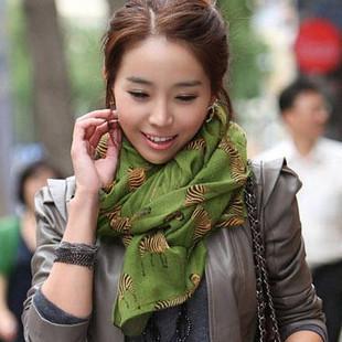 fashion voile small zebra scarfs fluid women's muffler scarves ladies bali yarn long cape scarf SC0208(China (Mainland))
