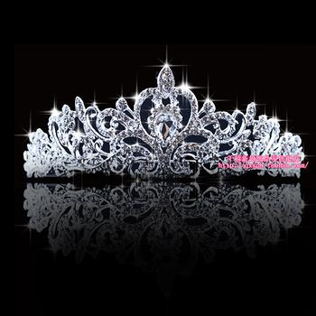 Princess Crowns Tiaras Pageant Diadem Pretty Silver Crystal Rhinestone wedding bridal Tiara Corona Diadema Adorno Tocado Novia