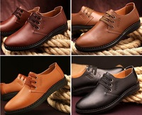 Free shipping/Summer breathable leather casual shoes with men oxfords