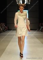 free shipping, catwalk white dress women, spring casual dress top grade