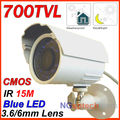 Blue 24 LED 700tvl Color Night Vision Indoor/Outdoor security CMOS IR CCTV Camera +Free Shipping