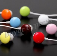 Wholesales 1000PCS Cartoon earphone Candy Chocolate Earphone 3.5mm jack Cheap price Large Supply DHL Free Shipping