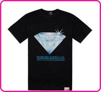 Stock Free Shipping New Casual Diamond pattern Men's T shirt, 100% Cotton men's T shit