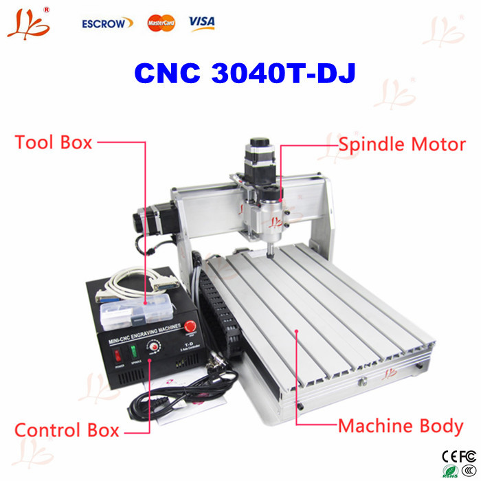 220V cnc 3040T-DJ mini cnc engraving machine, upgrade version of cnc 3020T-DJ, cnc 3040z-dq.cnc milling machine.made in China(China (Mainland))