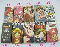 cute one piece cartoon Flip stand card slot hard Leather case wallet for Samsung Galaxy Note II 2 N7100 B230