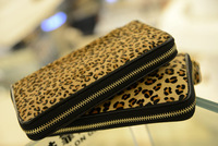2013 new Korea fashion bags Korean female long section of the Fashion Leisure wallet leopard women horse hair wallet