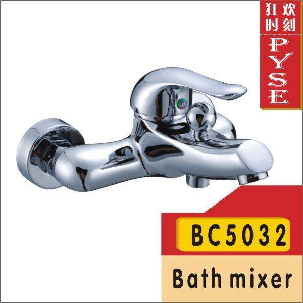 Free shipping BC5032 brass chrome plating bathtub mixer, bath faucet, shower mixers, bathroom tap(China (Mainland))