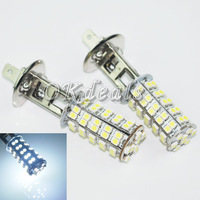 Free Shipping 2X Car H1 68 SMD LED Xenon White Fog Beam DRIVING Head Light Lamp Bulb 12V  Hot Selling