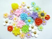 Resin flower polymer clay flower daifuku bags resin stickers resin lucky bag