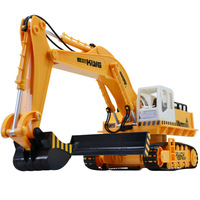 Remote control excavator engineering car full function 680 rotating music colorful excavator toy