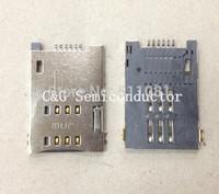 free shipping 50pcs push push type Simcard Holder Sim card socket