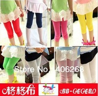 free shipping  2013 spring & summer  best quality soft and breathable candy color modal  girl's leggings stretch leggings