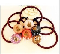 Fshion Korea Exported Rabbit Bowknot Hair Band Elastic Hair Bands Hair Cute Jewelry C0488