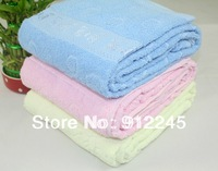 Free shipping to Russia 100% cotton not easy  fade smooth and silky bath towels 70 * 140cm (27*55 inch) Antibacterial Baby quilt