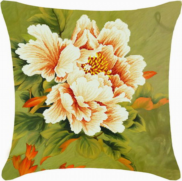 3D cross stitch cushion covers flowers embroidery kits craft(China (Mainland))