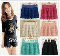 Free shipping(1piece/lot)high quality lowest price shorts&hot slae Tiered Lace Shorts &2013 top sale fashion shorts