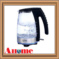 1.5L Electric Water Kettle with High Quality Glass kettle body and LED Working Light, Fashion Design, High Quality(China (Mainland))